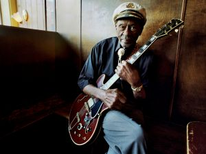 Chuck Berry in a promo photo for his final album.