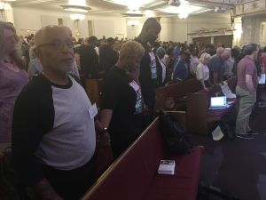 The Faith over Fear Coalition hosted a mayoral candidate forum at a church in Harlem.