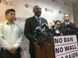 Muslim and immigrant advocates and leaders spoke out against the Supreme Court's decision to allow parts of President Donald Trump's executive order barring entry to people from Muslim-majority countries to go into effect.