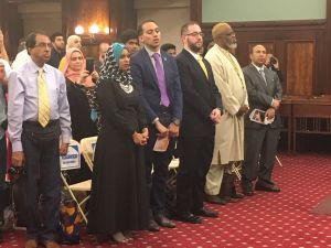 The City Council hosted an Eid ul-Fitr celebration in the Council chambers.