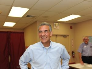 Ciattarelli at his Hillsborough polling place.