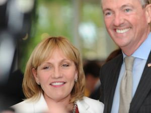 Kim Guadagno and Phil Murphy at a New Jersey Chamber Dinner on June 9.