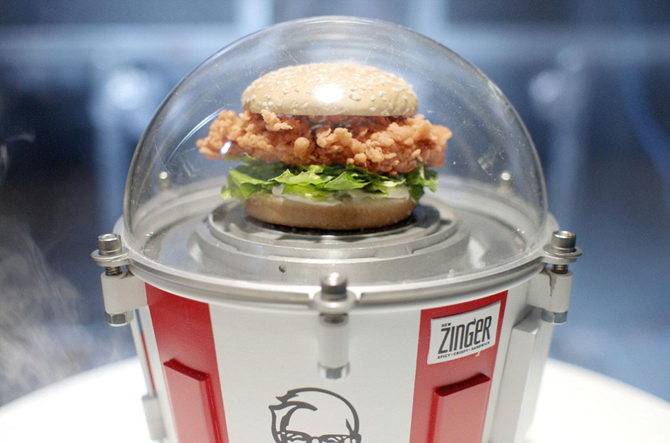 This Weekend, Humanity Will Launch a Fried Chicken Sandwich Into Space