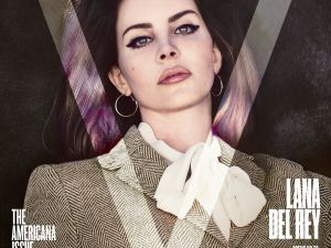 Lana Del Ray, on the cover of V108.