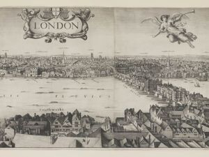 Long view of London by Wenceslaus Hollar (1647).