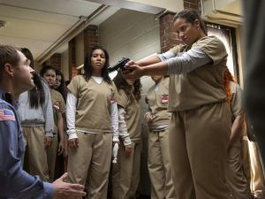 Michael Torpey and Dascha Polanco in Orange Is the New Black.