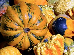 Decorative gourds.