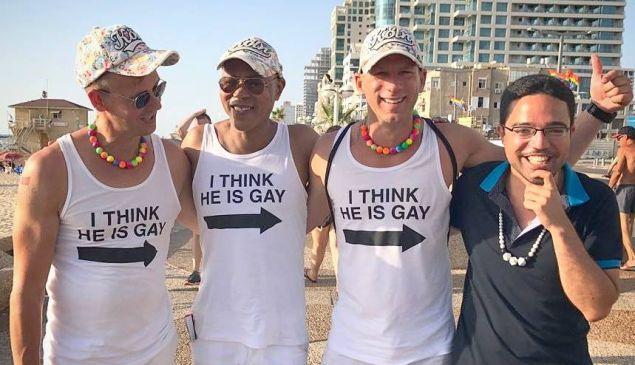Romeu at the Gay Pride Parade.