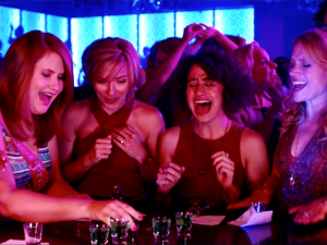 Jillian Bell, Scarlett Johansson, Ilana Glazer and Kate McKinnon in Rough Night.