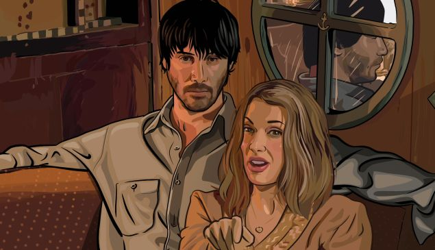A Scanner Darkly (2006), directed by Richard Linklater, with Keanu Reeves and Winona Ryder.