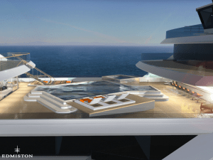 What's a superyacht without an enormous swimming pool and helicopter pad?