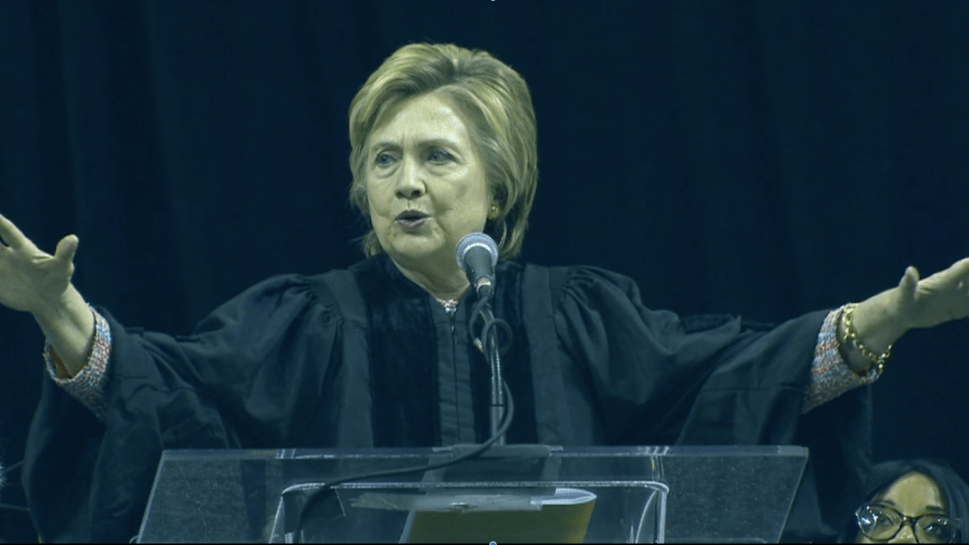 Clinton Needles Trump in College Commencement Speech—But Makes No Mention of Comey