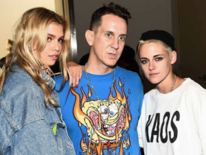 Stella Maxwell, Jeremy Scott and Kristen Stewart.