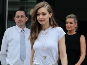 Gigi Hadid mixes wellness with high jewelry.