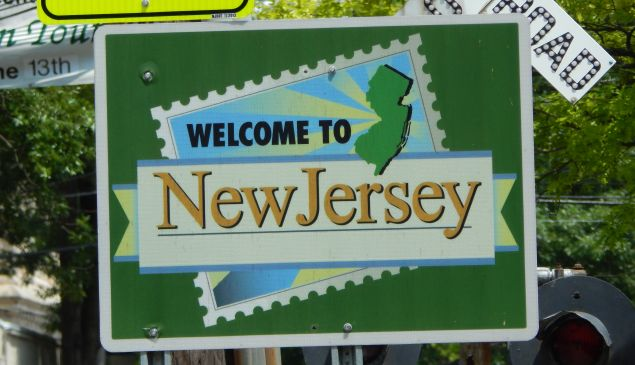 Welcome to New Jersey sign.
