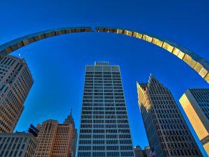 Hart Plaza Arch, Detroit MI.