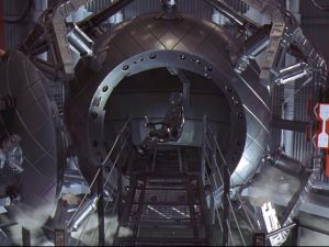 The wormhole vehicle in the film Contact.