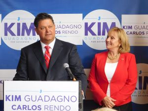 Carlos Rendo and Kim Guadagno.