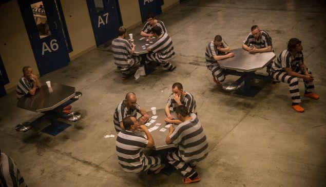 Inmates in the county jail in Williston, North Dakota.