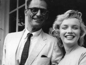 Marilyn Monroe and Arthur Miller.