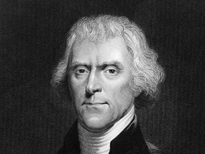 Thomas Jefferson, the third president of the United States of America.