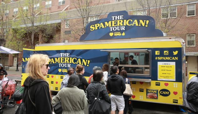 Spam food truck at the 2016 Tribeca Film Festival Street Fair.