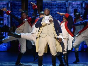 Okieriete Onaodowan performs with the cast of 'Hamilton' at the 2016 Tony Awards.