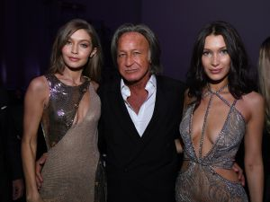 Mohamed Hadid with his model daughters, Gigi and Bella.