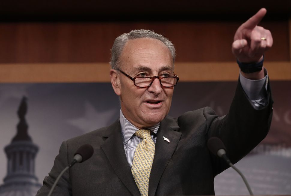 Schumer Urges GOP to 'Turn a Deaf Ear' to Trump's Health Care Plans