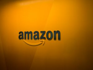 SEATTLE, WA - JUNE 16: An Amazon logo is seen inside the Amazon corporate headquarters on June 16, 2017 in Seattle, Washington. Amazon announced that it will buy Whole Foods Market, Inc. for over $13 billion.