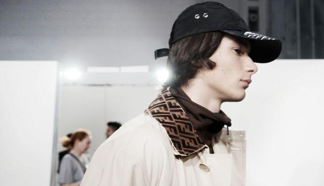 A model on Fendi's Spring/Summer runway.