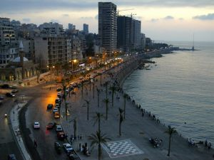 Beirut's corniche in July 2006.