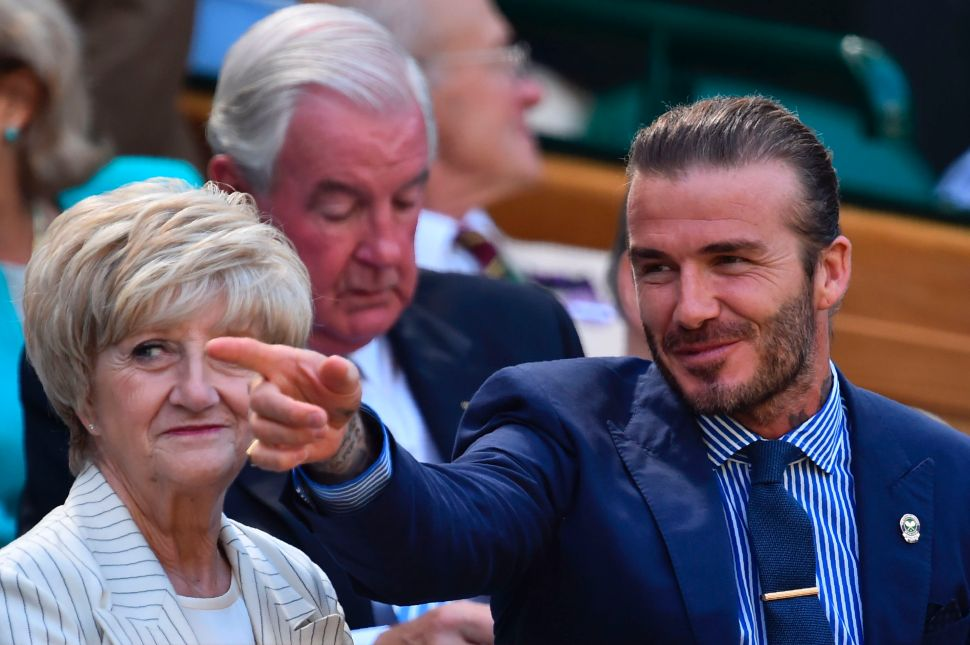 David Beckham Shows Off a Perfectly Accessorized Summer Suit