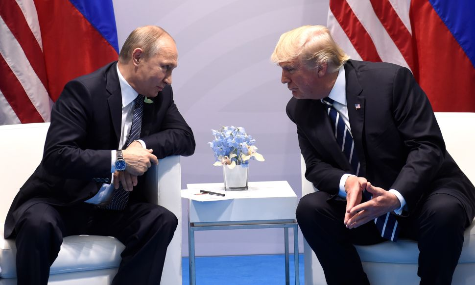 Trump, Russia, America and Putin Spell 'TRAP'