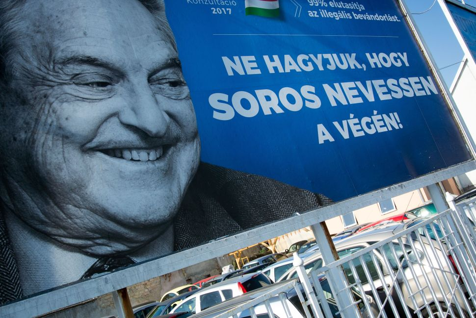 Europeans Launch Campaign Blaming George Soros for Migrant Disaster
