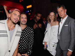 Char Defrancesco, Marc Jacobs, A$AP Rocky, Hanne Gaby Odiele and Stefano Tonchi at Raf Simons.