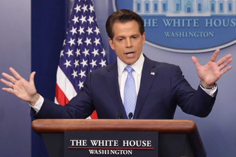 Scaramucci Needs to Put the White House on Offense