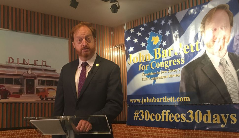 Freeholder Bartlett Announces Challenge to Frelinghuysen