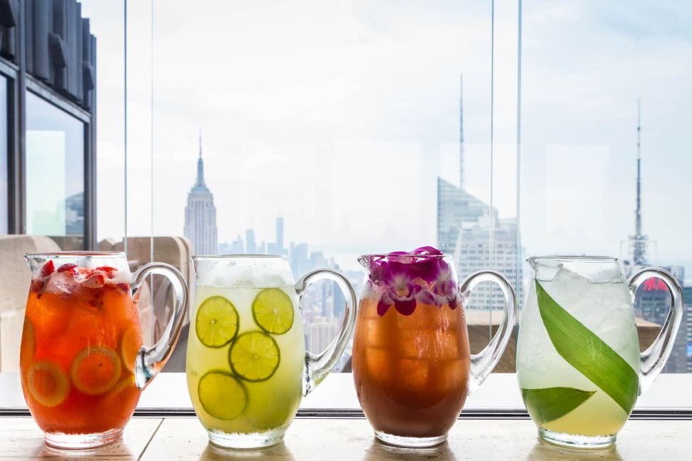 Sip These Sophisticated Pitchers and Punches 65 Stories Above Manhattan