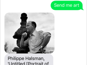 SFMOMA has created a texting service that sends uses images of art from its collections based on keyword requests.