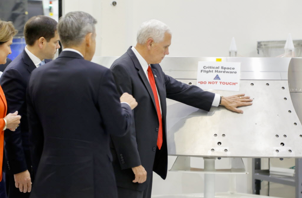 A Quick Note for the Vice President on the Space Hardware He Violated