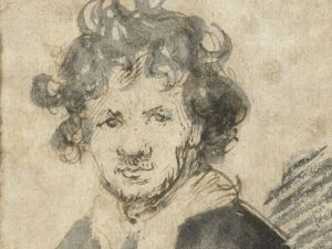 Rembrandt Harmensz. van Rijn, Self-portrait with Tousled Hair, c. 1628 - c. 1629.
