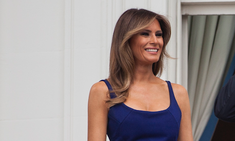 Melania Trump Proudly Wore Red, White and Blue This Weekend
