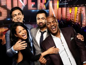 Dr. Rahul Jandial, Christina Milian, Kal Penn and Mike Tyson from the new Fox show Superhuman.