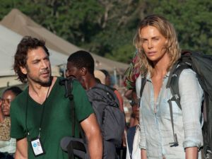 Javier Bardem and Charlize Theron in The Last Face.