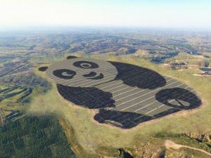 Panda Green's newest solar panel station in Datong, China.