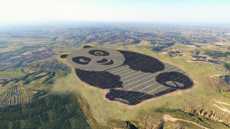 Yes, China Really Is Building a Giant Solar Farm Shaped Like a Panda