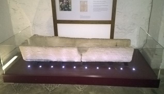 The Prittlewell coffin after being damaged.