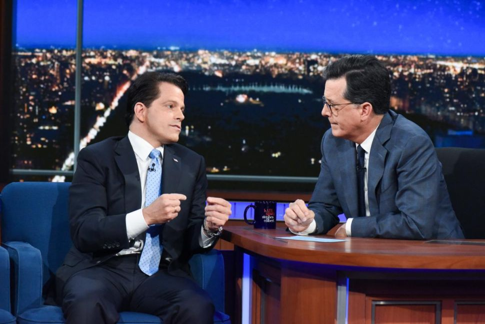 Stephen Colbert Can Thank Anthony Scaramucci for Second-Biggest Win Over Fallon