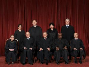 The Supreme Court, including newly appointed Associate Justice Neil Gorsuch, back right, has taken a dim view of congressional delegation.